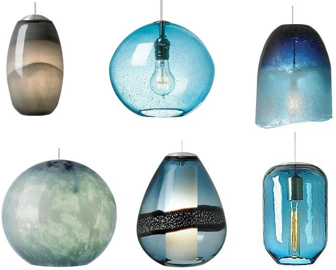 Brilliant Blue Pendant Lights (#9 of 15)