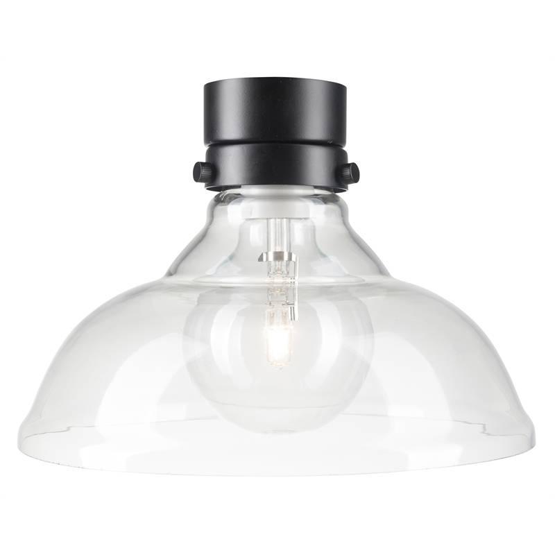 Brilliant Clear Mila Curved Glass Batten Fix Light | Bunnings Throughout Batten Fix Pendant Lighting (#11 of 15)