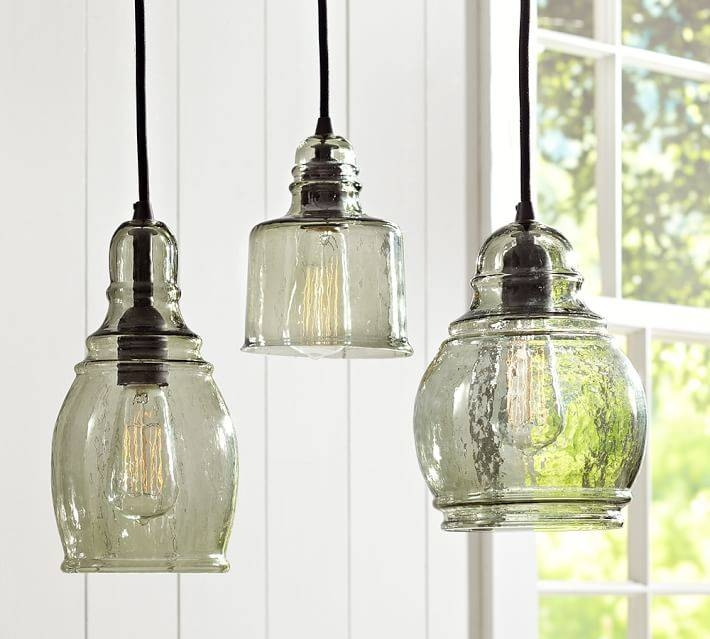 Brilliant Glass Pendant Lights Glass Jug Pendant Shades Of Light Pertaining To Glass Jug Lights Fixtures (#11 of 15)