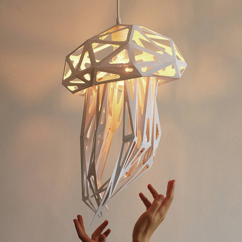 Bring The Deep Sea To Life With The Jellyfish Light Shade Regarding Jellyfish Lights Shades (#8 of 15)