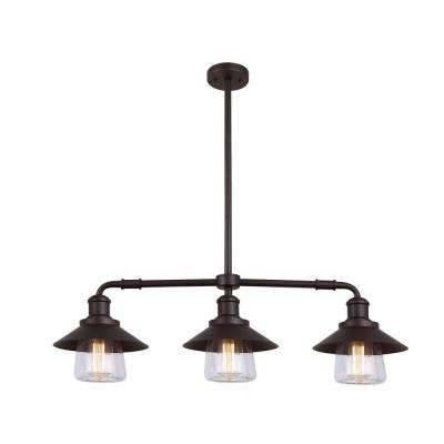 Bronze – Pendant Lights – Hanging Lights – The Home Depot Inside Bronze Pendants (#7 of 15)