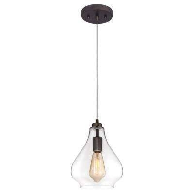 Bronze – Pendant Lights – Hanging Lights – The Home Depot With Regard To Oil Rubbed Bronze Mini Pendant Lights (#5 of 15)