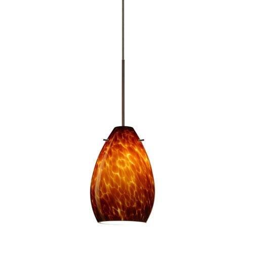 Brown Mini Pendant Lighting | Bellacor Regarding Brown Glass Pendant Lights (#6 of 15)