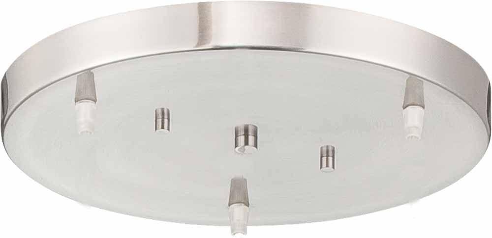 Brushed Nickel 3 Light Conversion Pendant Ceiling Canopy : V0170 Regarding 3 Pendant Light Kits (#8 of 15)