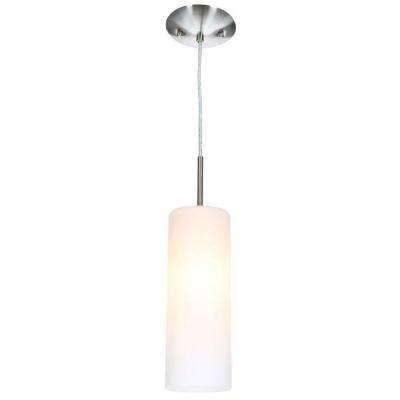 Brushed Nickel – Pendant Lights – Hanging Lights – The Home Depot Regarding Brushed Nickel Pendant Lights (View 9 of 15)