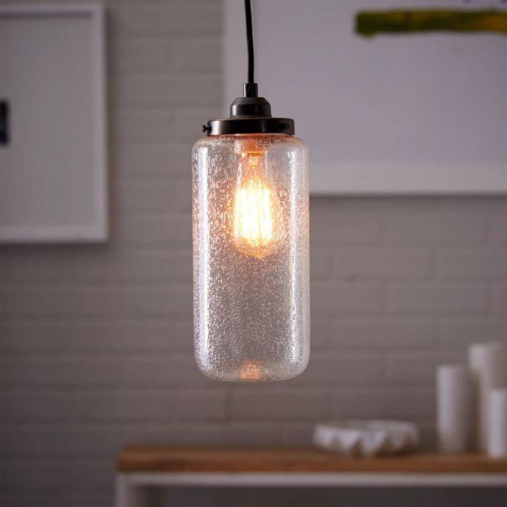 Bubble Glass Jar Pendant – Tall | West Elm Throughout Bubble Glass Pendant Lights (#6 of 15)