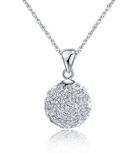 Buy Lily Jewellery Sterling Silver S925 Shamballa Style Swarovski Within Disco Ball Pendants (View 3 of 15)