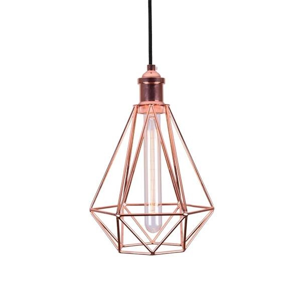 Cage Ceiling Lights Industrial Pendant Lighting For Batten Fix Pendant Lights (#6 of 15)