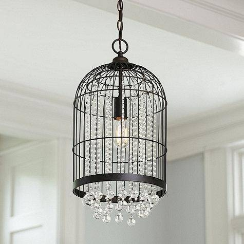 Caged Dangling Crystals Pendant With Regard To Birdcage Pendant Lights (#9 of 15)