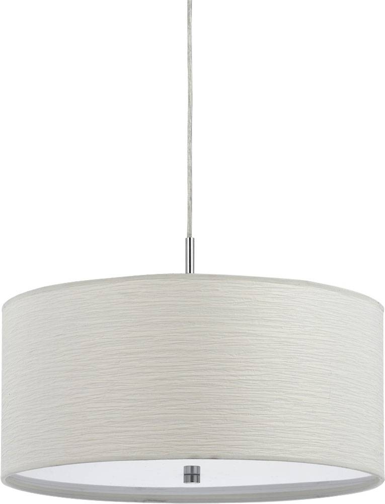 Cal Fx 3524 1P Nianda Casual White Drum Hanging Pendant Lighting Intended For Black And White Drum Pendant Lights (View 13 of 15)