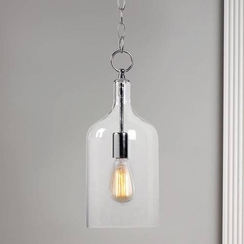 Can This Glass Jug Pendant Light Be Hung On A Slope Ceiling ? Intended For Glass Jug Pendant Lights (View 4 of 15)