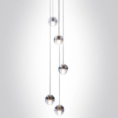 Cascade Glass Ball Pendant Light 5 Light – Beautifulhalo Within Glass Sphere Pendant Lights (#3 of 15)