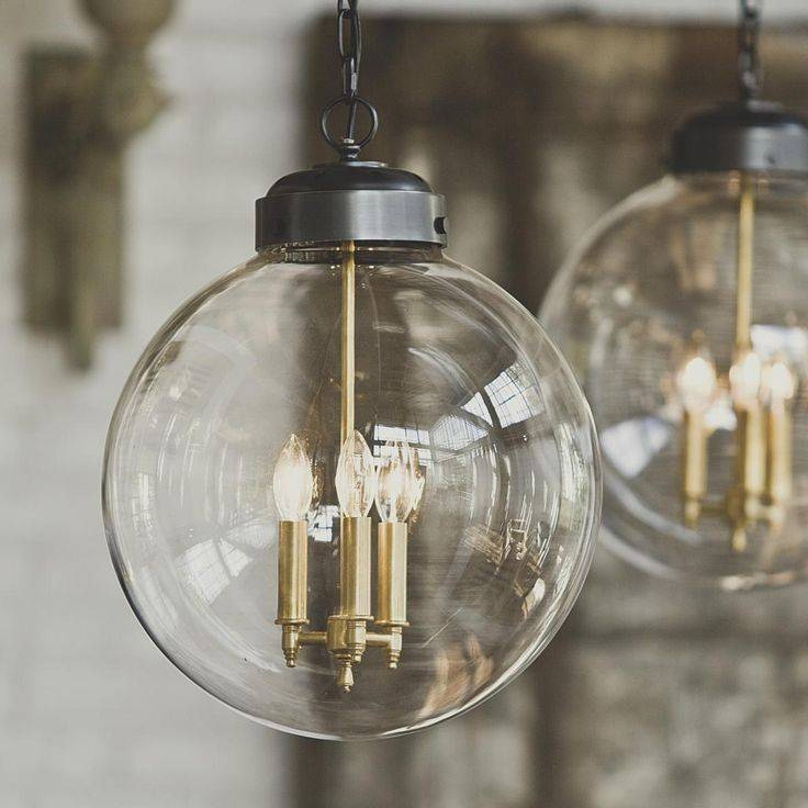 Catchy Glass Globe Pendant Light Clear Glass Globe Industrial Inside Large Glass Ball Pendant Lights (#3 of 15)