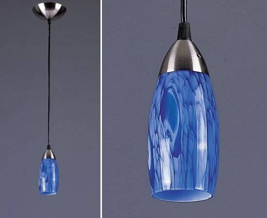Ceiling Lights : Fabulous Blue Pendant Light Glass, Cobalt Blue For Blue Pendant Lights For Kitchen (#8 of 15)