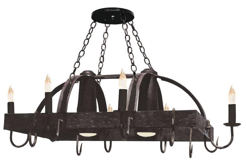 Chandeliers – Candelabra Chandelier – Kitchen Lighting – Pot Rack For Pot Rack With Lights Fixtures (#2 of 15)