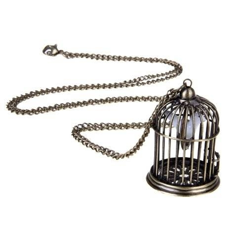 Charm Vintage Fashion Retro Birdcage Faux Pearl Pendant Long Chain With Birdcage Pendants (#3 of 15)