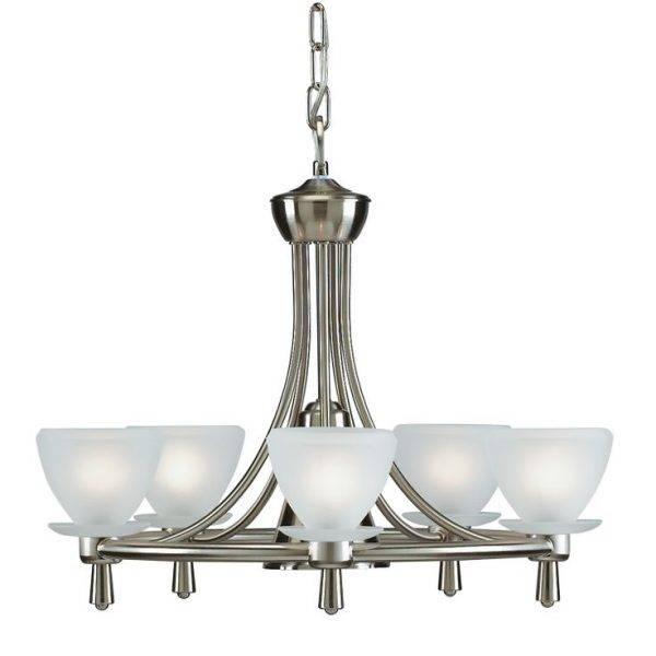 Charming Brushed Nickel Kitchen Light Fixtures Using Stainless Intended For Stainless Steel Kitchen Lights (View 2 of 15)