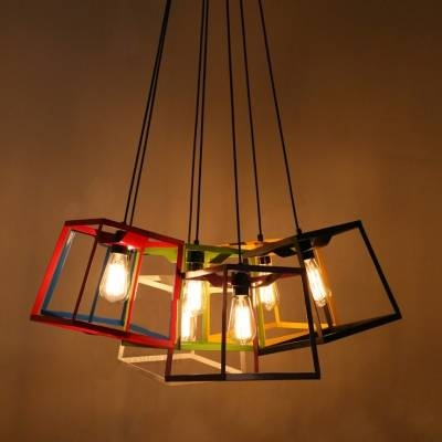Chic And Colorful Wrought Iron Cube Cage  (#2 of 15)