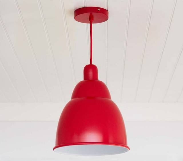 Chic Red Pendant Light Red Pendant Light Modern Hanging Lights In Throughout Modern Red Pendant Lighting (#6 of 15)