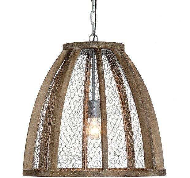 Chicken Wire Pendant Light | Antique Farmhouse Within Chicken Wire Pendant Lights (#6 of 15)