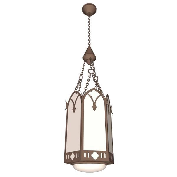 Church Pendant Light 3D Model – Formfonts 3D Models & Textures For Church Pendant Lights (#2 of 15)