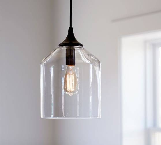 City Glass Pendant | Pottery Barn With Barn Pendant Light Fixtures (#4 of 15)