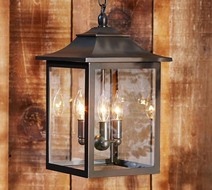 Classic Indoor/outdoor Pendant | Pottery Barn Within Exterior Pendant Lights (View 10 of 15)