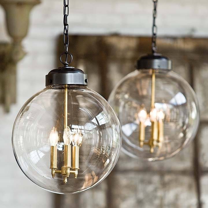 Clear Glass Orb Pendant – Large | British Home Emporium | Bhe Studio With Regard To Glass Orb Pendant Lights (#4 of 15)