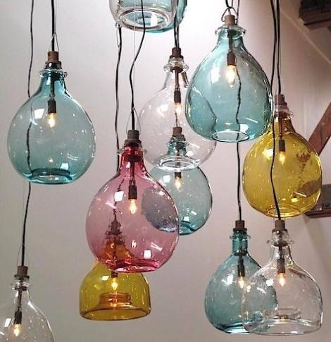 Clear Glass Pendant Light Edison Bulb | Victoria Homes Design Pertaining To Coloured Glass Pendants (#9 of 15)