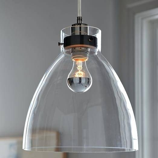 Clear Glass Pendant Lighting Canada Wellington Clear Glass Pendant In Industrial Pendant Lighting Canada (#2 of 15)