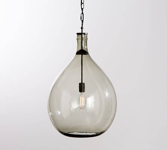 Clift Oversized Glass Pendant | Pottery Barn Throughout Glass Jug Pendants (View 5 of 15)