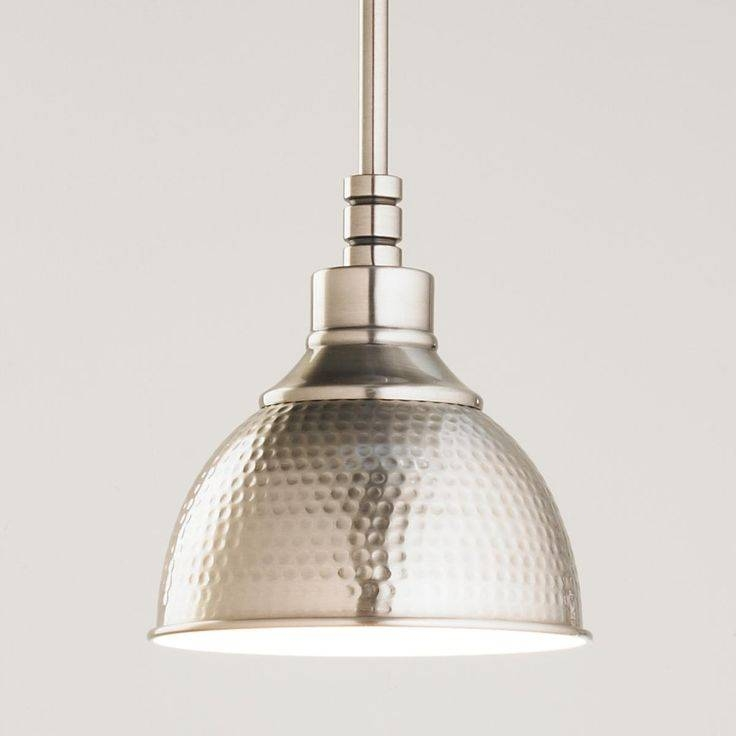 Collection In Metal Pendant Lights Hammered Nickel Pendant Shades Intended For Hammered Metal Pendant Lights (View 3 of 15)