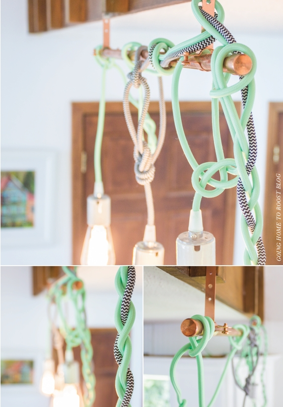 Color Cord Pendant Lights Tutorial   Going Home To Roost For Pendant Lights With Coloured Cord (#7 of 15)