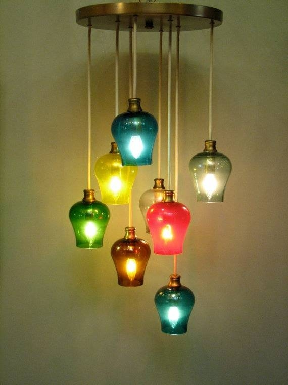 Colored Glass Pendant Lights – Hbwonong In Coloured Glass Pendant Light (#6 of 15)