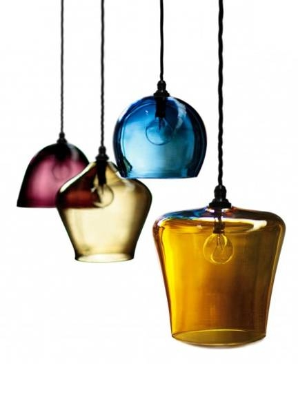 Coloured Glass Pendant – Bowl, English Blown Glass Pendants With Coloured Glass Pendant Light (#7 of 15)
