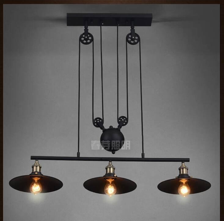 Compare Prices On Adjustable Pulley Pendant Lights  Online Pertaining To Pulley Adjustable Pendant Lights (#8 of 15)