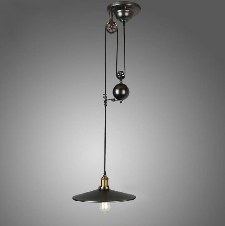 Compare Prices On Adjustable Pulley Pendant Lights  Online Within Pulley Adjustable Pendant Lights (#9 of 15)