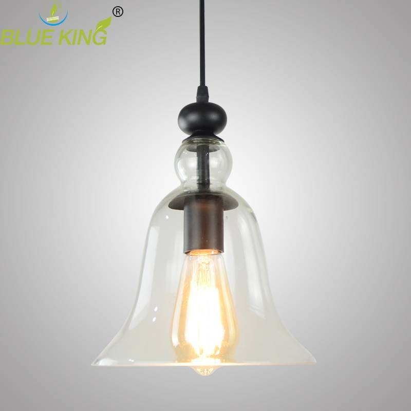 Compare Prices On Clear Bell Glass Pendant Light  Online Shopping In Glass Bell Shaped Pendant Light (#10 of 15)