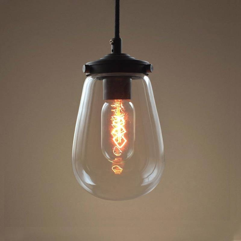 Compare Prices On Clear Blown Glass Pendant Lights  Online Throughout Hand Blown Glass Pendant Lights (#2 of 15)