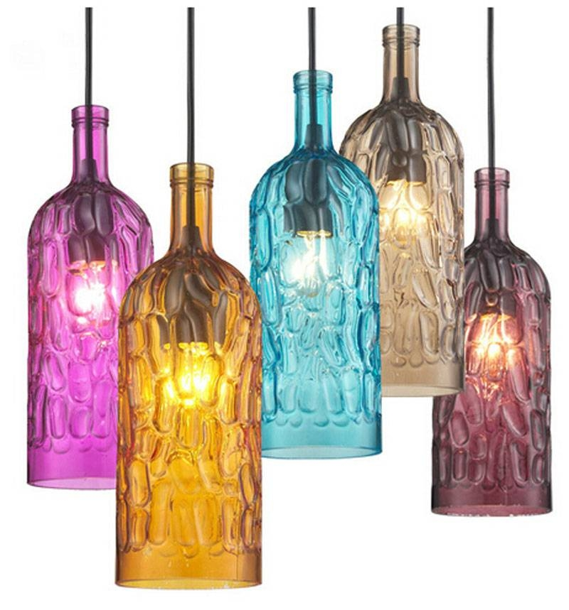 Compare Prices On Glass Bottle Pendant Light  Online Shopping/buy For Wine Bottle Pendant Lights (#3 of 16)