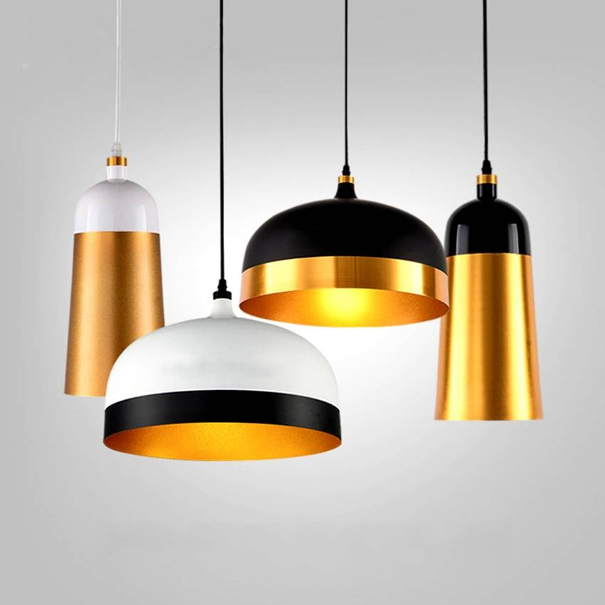 Compare Prices On Gold Lights  Online Shopping/buy Low Price Gold Inside Black And Gold Pendant Lights (#3 of 15)