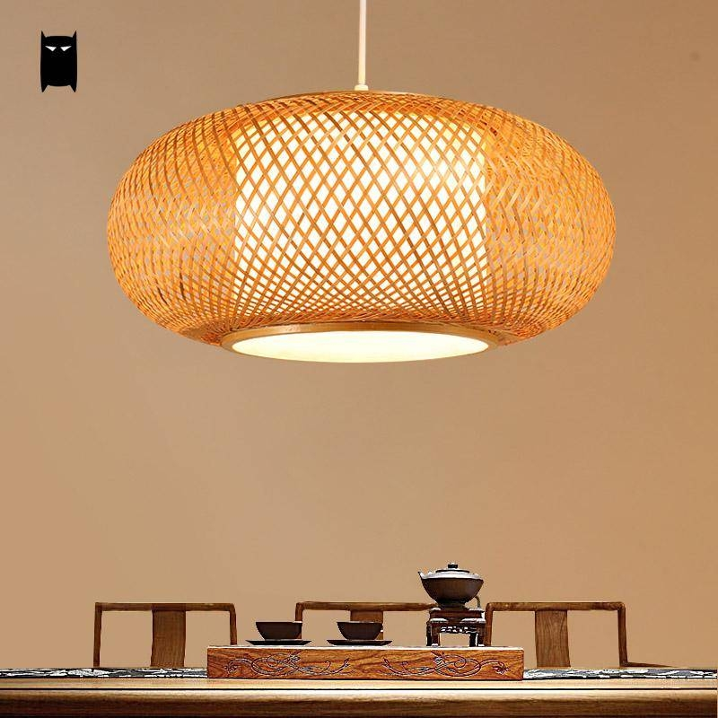 Compare Prices On Japanese Bamboo Table Lamp  Online Shopping/buy With Regard To Asian Style Pendant Lights (#5 of 15)
