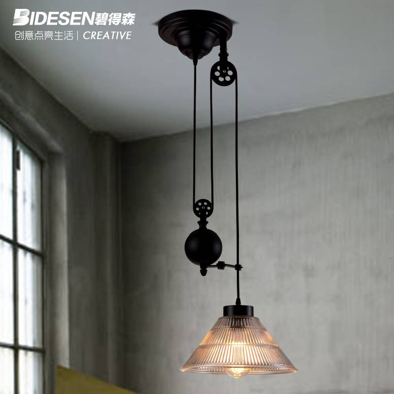 Compare Prices On Pulley Light Fixtures Online Shopping/buy Low Intended For Pulley Pendant Light Fixtures (View 8 of 15)