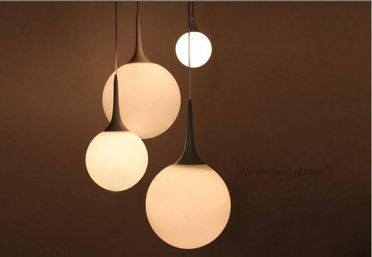 Compare Prices On White Glass Globe Pendant Lights Online With Glass Sphere Pendant Lights (View 13 of 15)