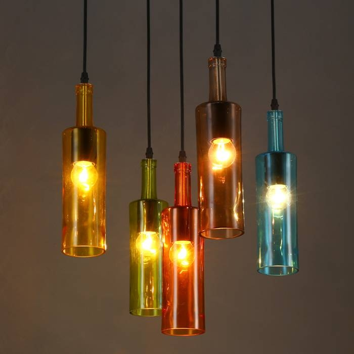 Compare Prices On Wine Glass Lighting Online Shopping/buy Low Throughout Wine Bottle Ceiling Lights (View 7 of 15)