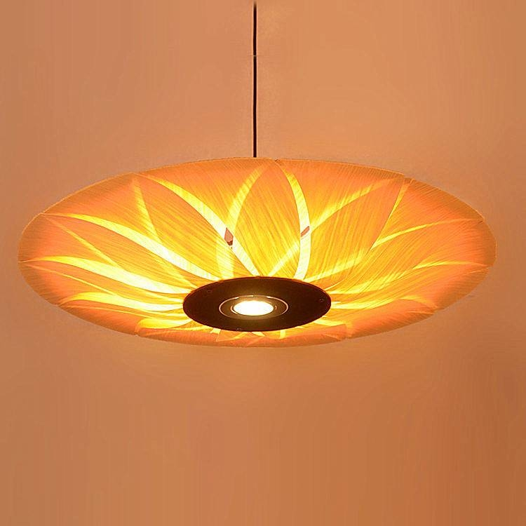 Compare Prices On Wood Veneer Art Online Shopping/buy Low Price For Wood Veneer Pendant Lights (View 10 of 15)
