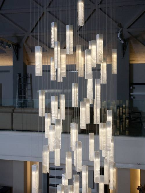 Contemporary Foyer Lighting, Modern Entry Chandelier For High Throughout Entrance Pendant Lights (#6 of 15)