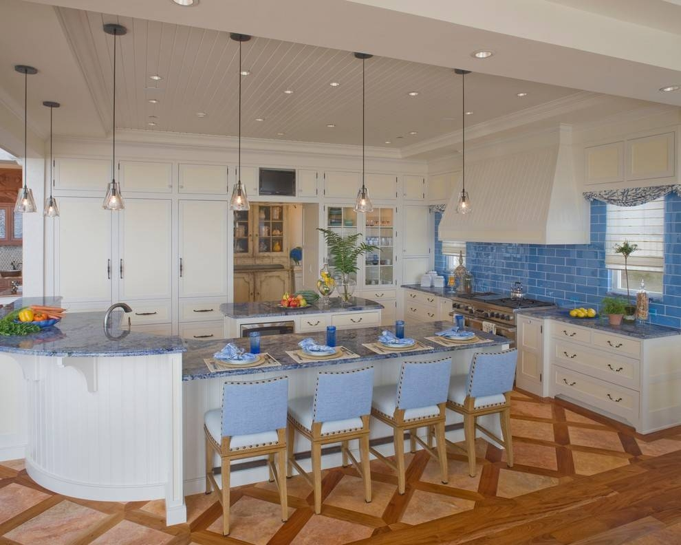 Contemporary Pendant Lighting Kitchen Modern With Breakfast Bar Pertaining To Blue Kitchen Pendant Lights (#10 of 15)