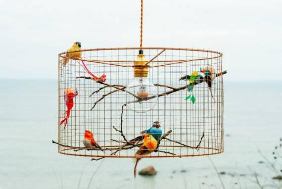 Copper Birdcage Pendant Light Chandelier Inside Birdcage Pendants (#4 of 15)