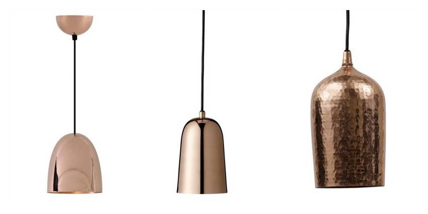 Copper Ceiling Lights Within Hammered Copper Pendant Lights (#10 of 15)